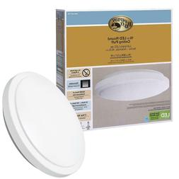 Hampton Bay 16 in. 1-Light Bright White LED Ceiling Flushmou