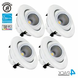 10W 4 inch Dimmable Eyeball LED Recessed Ceiling Downlight F