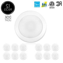 "Parmida  5/6"" Dimmable LED Disk Light Flush Mount Recessed"