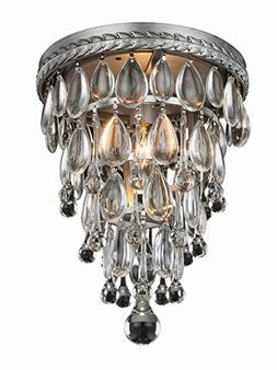 Elegant Lighting 1219F9AS/RC Nordic Collection Flush Mount D