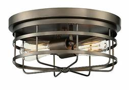 "Designers Fountain 1264  Anson 2 Light 13"" Wide Flush Mount"