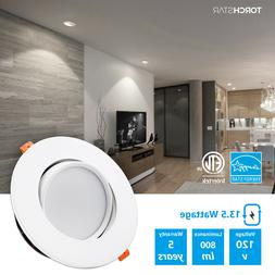 TORCHSTAR 13.5W 6inch Gimbal LED Recessed Dimmable Light, Ju