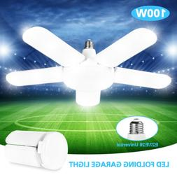 150W LED Garage Light Bulb Deformable Ceiling Fixture Worksh