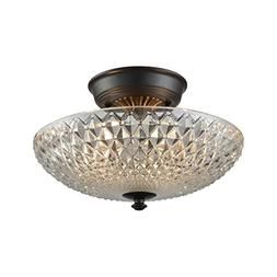 Elk Lighting 16041/2 Sweetwater - Two Light Semi-Flush Mount