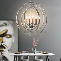 18'' 4-Lights Orb Ceiling Light Fixture Chandelier Hanging G