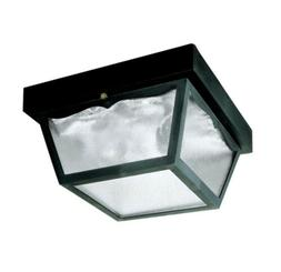 WESTINGHOUSE 2 Light Black Exterior Hi-Impact Polypropylene