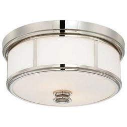 Minka Lavery 4365-613 2 Light Flush Mount, Polished Nickel