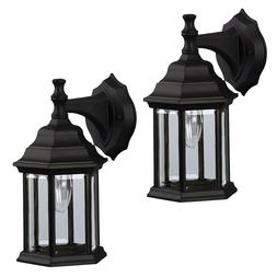 2 Pack of Exterior Wall Light Fixture Outdoor Sconce Lantern