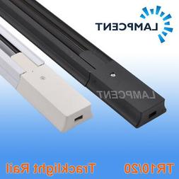 2 Wire LED track Rail fixture Universal Rails for LED Track