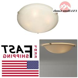Maxim Lighting 2681MRSN 3 Light Flush Mount Ceiling Light