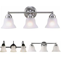 3 Light Wall Lamp Bathroom Vanity Light Fixture Frosted Glas