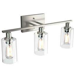 3-Light Wall Sconce Modern Bathroom Vanity Light Fixtures w/
