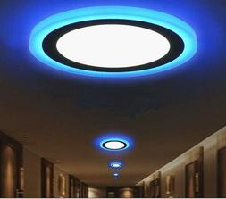3 Mode Ultra thin Dual Color LED Recessed Ceiling Panel Down