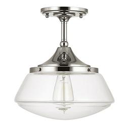Capital Lighting 3533PN-134 - 1-Light Semi-Flush Ceiling Fix