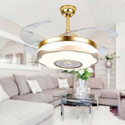 "42"" Remote Control Ceiling Fan Light Chandelier Lighting Lam"