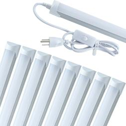 4FT 8 Pack LED Shop Light T8 Linkable Ceiling Tube Fixture 2