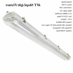 4ft LED Shop Light Fixture Utility Troffer Ceiling Lights Ga