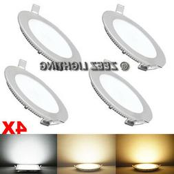"""4X 6W 4""""Round Cool White LED Recessed Ceiling Panel Down Lig"""