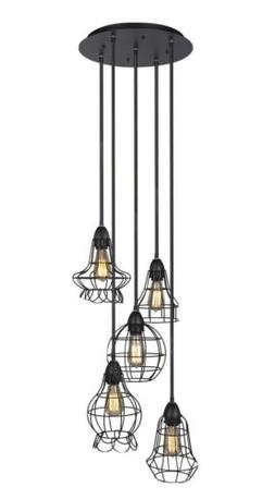 Best Choice Products 5-Light Industrial Steel Hanging Pendan