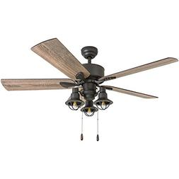 "Prominence Home 50651-01 Sivan Farmhouse Ceiling Fan, 52"", B"