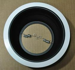 "6"" Inch Black Baffle Recessed Can Light Trim to replace Halo"