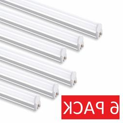 6 PACK 4FT LED Shop Light T5 Linkable 6500K Super Bright Uti