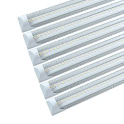 6 Pack 4FT T8 LED Shop Light Linkable Ceiling Tube Fixture 2