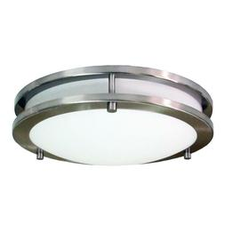 HomeSelects 6106 Flush Mount Ceiling Light, Brushed Nickel w