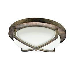 HomeSelects 6160 Flush Mount Ceiling Light, Burnished Bronze