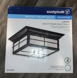Westinghouse 6204800 Orwell 2 Light Outdoor Flush Mount Fixt
