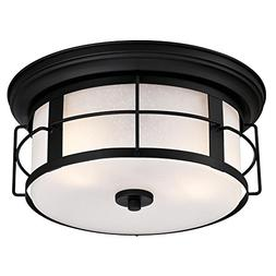 Westinghouse 6339200 Orwell Two-Light Outdoor Flush-Mount Fi