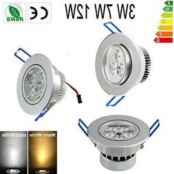 6PCS 3W/7W/12W LED Ceiling Down Light Fixture Recessed Lamp