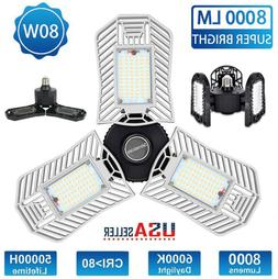80W/60W/40W LED Garage Light E27 Deformable Ceiling Fixture
