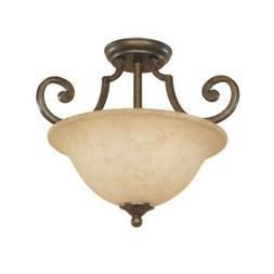Designers Fountain 81811  Mendocino 2 Light Semi-Flush Ceili