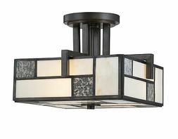 Designers Fountain 84111 Bradley Semi-Flush Light in Charcoa