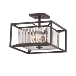Designers Fountain 87411-VB Linares 3-Light Semi-Flush Ceili