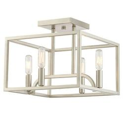 "Designers Fountain 88411 Uptown 4 Light 12"" Wide Semi-Flush"