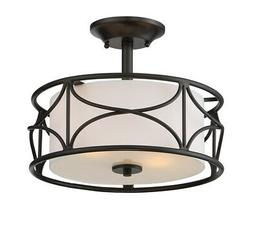 "Designers Fountain 88611-ORB Avara 2 Light 13""W Ceiling Fixt"