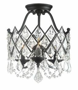 "Designers Fountain 90311-VB Ravina 3-Light 15""W Semi-flush C"