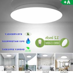 12 in LED Ceiling Light 18W=120W Fixture Flush Mount Round H