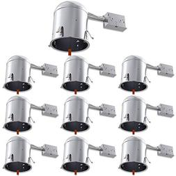 Sunco Lighting 10 Pack 6 Inch Remodel LED Light Can Air Tigh