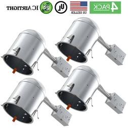 """Sunco Lighting 4 PACK - 6"""" inch Remodel LED Can Air Tight IC"""