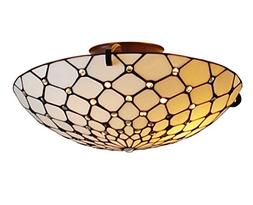 Amora Lighting AM030CL17 Tiffany Style Ceiling Fixture Lamp
