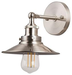 Andante LED Industrial Wall Sconce Fixture - Brushed Nickel