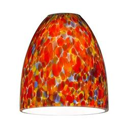 Bell Art Glass Shade - Lipless with 1-5/8-Inch Fitter Openin