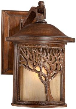 """Bronze Mission Style Tree 12 1/4"""" High Outdoor Wall Light"""