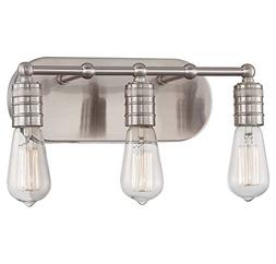 Brushed Nickel 3 Light Bathroom Vanity Light from the Downto