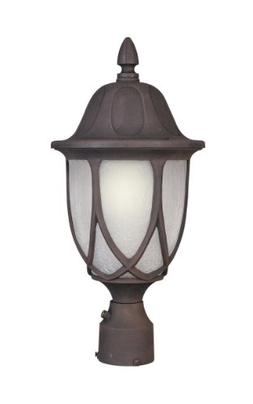 Capella Cast Post Lantern in Black