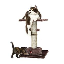 Furhaven Pet Cat Playground Scratching Post Furniture with I