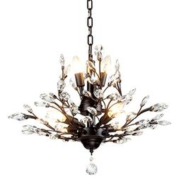 SEOL-LIGHT Vintage Crystal Branch Chandeliers Black Ceiling